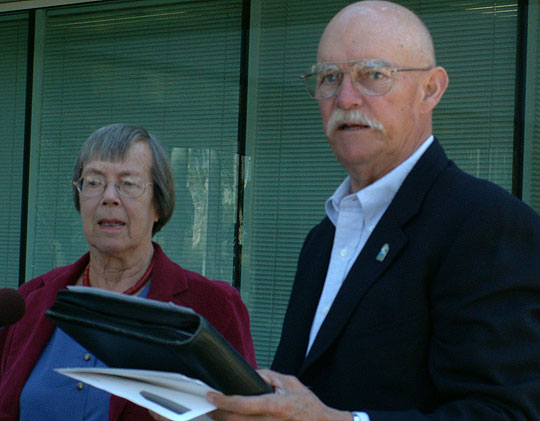 Goleta City Council candidates Margaret Connell, left, and Ed Easton have filed an election complaint against an opposition PAC.