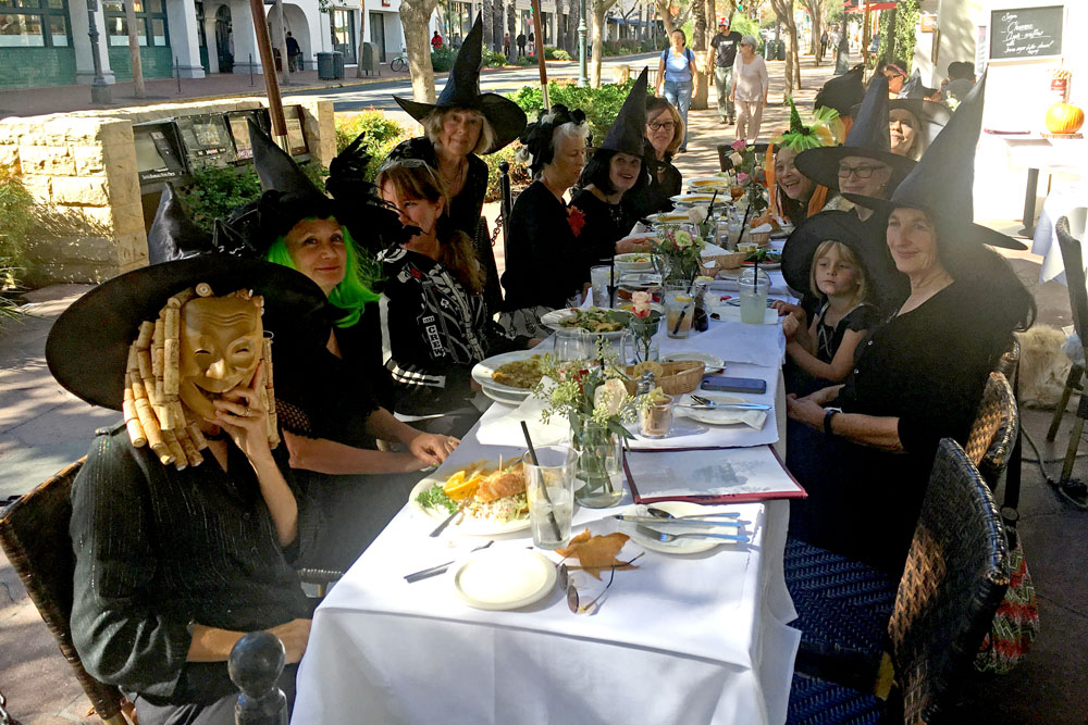 Children weren't the only ones in the Halloween spirit on Monday, as a group of 'witches' enjoyed lunch at Andersen's Restaurant in downtown Santa Barbara.