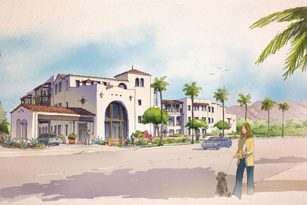 Hopeful of alleviating Santa Barbara's affordable housing crisis, the Housing Authority of the City of Santa Barbara has proposed an 89-unit project for low-income seniors at 251 S. Hope Ave. The project site is on the west side of the street, below La Cumbre Plaza.