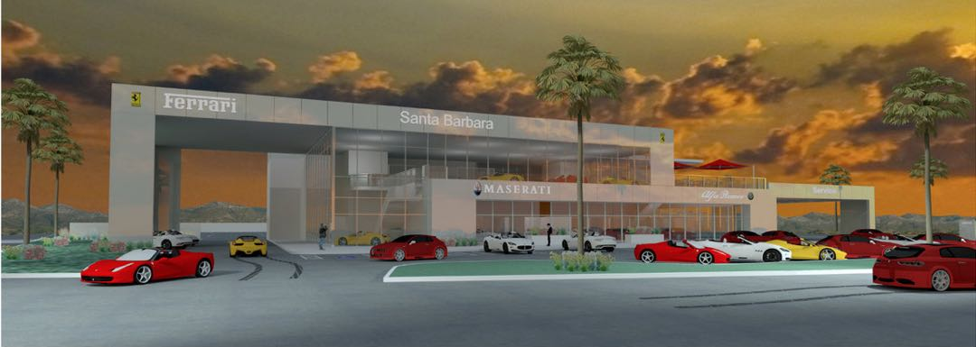 Ferrari, Maserati and Alfa Romeo want to open a high-end dealership at 350 Hitchcock Way in Santa Barbara. Some neighbors and others are concerned that the project is out of scale.