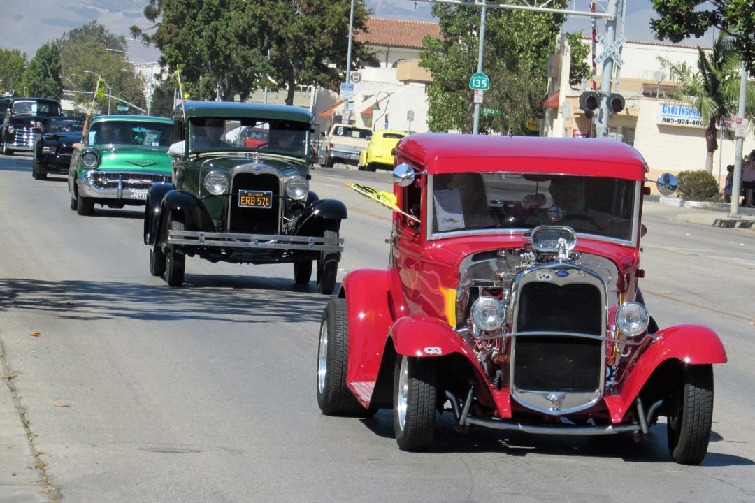 Classic cars cruised Broadway on Saturday for Cruzin' for Life, an annual fundraiser for cancer care services in the Santa Maria Valley. Vehicles with yellow flags indicated the presence of a cancer survivor.