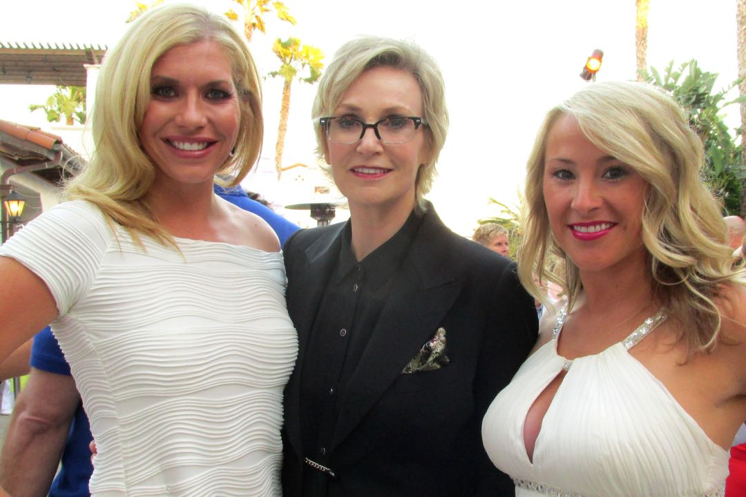 From left, Ashleigh David with sponsor Montecito Bank & Trust, actress and Royal Ball emcee Jane Lynch from the TV show <em>Glee</em>, and Cassidy Brewer from the Downtown Organization.