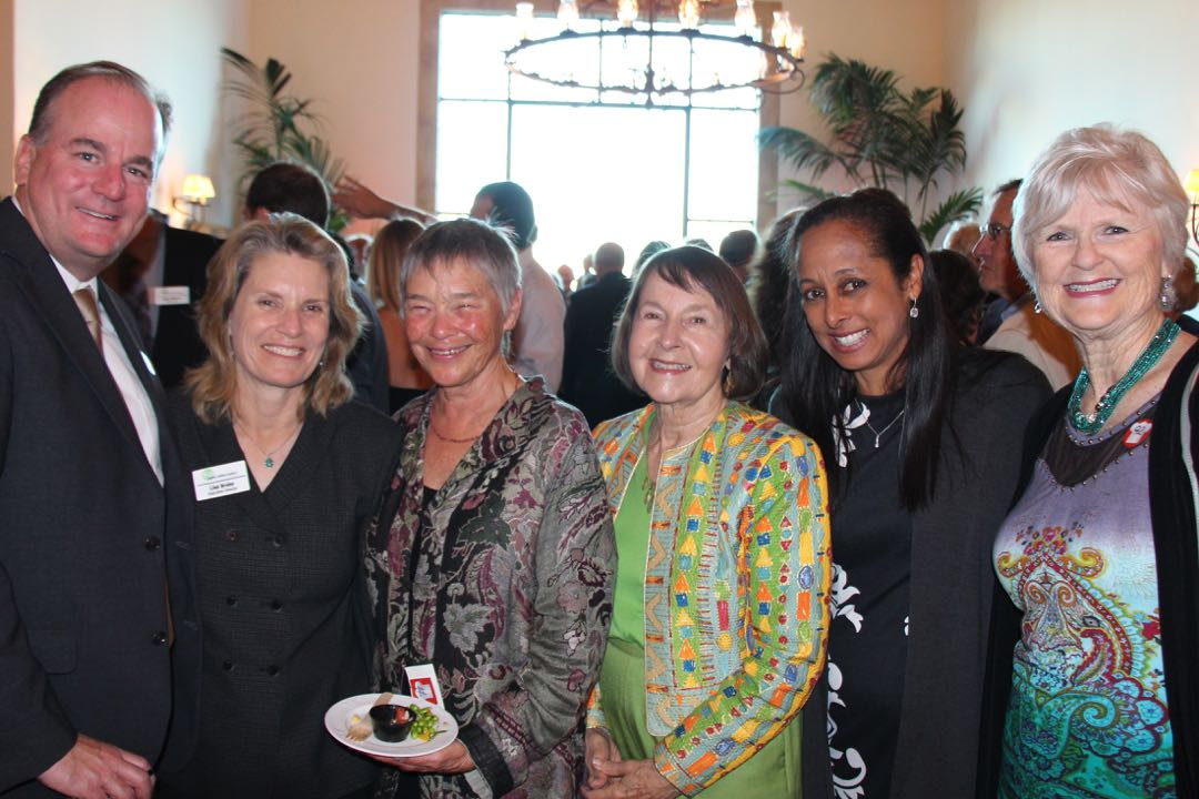 "Enjoying the Family Service Agency's inaugural ""Cooking Up Dreams"" benefit were, from right, board members Cheri Jasinski, Katya Armistead, Shirley Ann Hurley, Mary Harvey and Andrew Wilson, along with executive director Lisa Brabo, second from left."