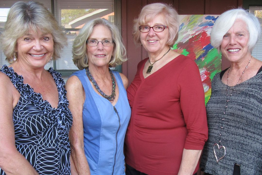 The Wine Down committee included, from left, Pamela Vander Heide, board president Kathy Marden, Karolyn Hanna and Sue Adams.