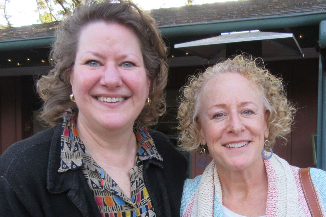 Sponsor Sharon Kennedy, left, with Phylene Wiggins of the Santa Barbara Foundation.
