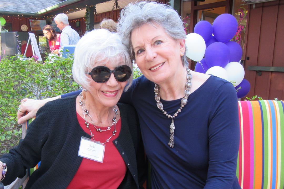 The lovely Rona Barrett, left, with Diana Story.
