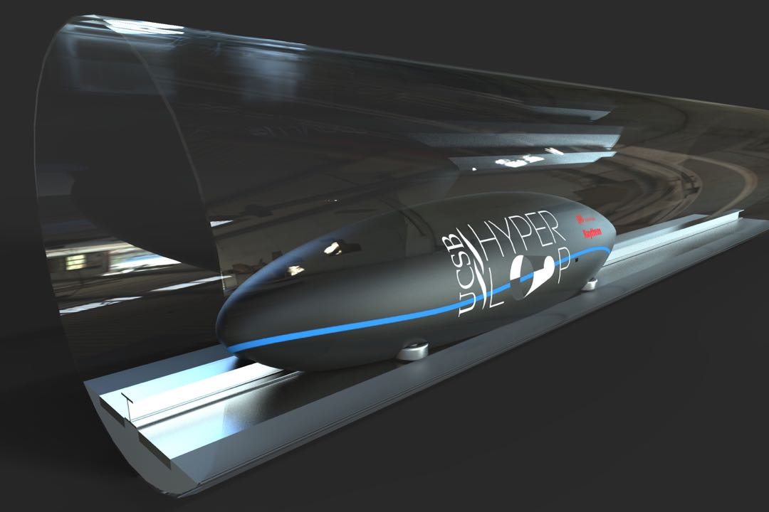 The UC Santa Barbara Hyperloop team is designing a pod that would quickly travel via a tube. The team is one of 22 finalists out of an initial field of 1,200.