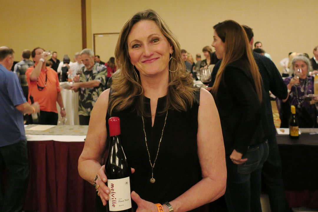 Laurie Counihan-Childs of Melville Vineyards & Winery outside Lompoc was among the representatives of more than 40 wineries pouring their products at the Fifth Annual Winter Wine Classic at The Fess Parker.