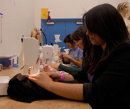 <p>Dos Pueblos High seniors Michelle Finck, Alice Matiosian, Jenna Parry and Haley Vigil are known as the &#8220;Fearsome Foursome&#8221; around the school&#8217;s theater department for their commitment to costume design.</p>