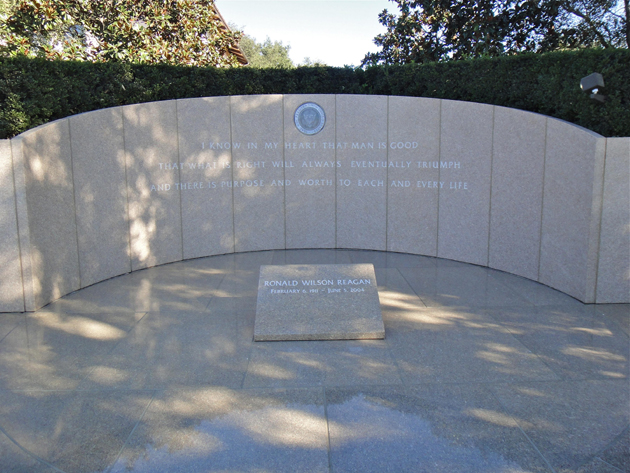 President Reagan's final resting place.