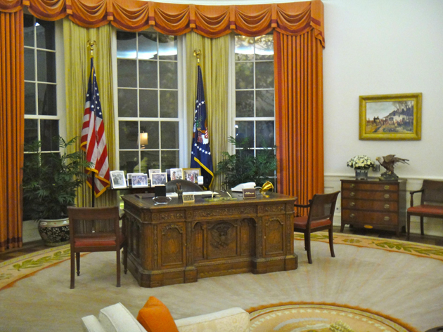 A full-scale reproduction of Reagan's Oval Office.