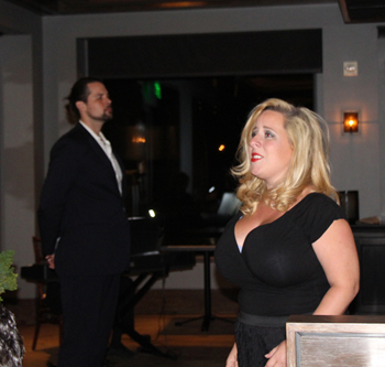 Opera Santa Barbara singers Elizabeth Kelsay and Elliott Deasy perform classical duets.