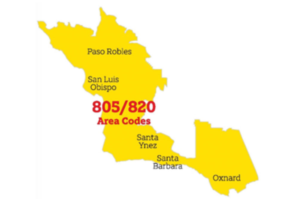 805 Area Code Map New Area Code Overlay Will Require Changes For 805 Callers | Local