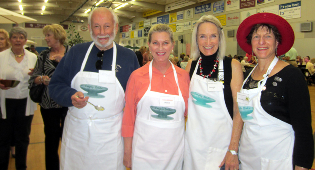 <p>From left, Allan Ghitterman, Susan Bridges, Empty Bowls Santa Barbara founder/chairwoman Danyel Dean and Donnalyn Karpeles help make the 16th annual Empty Bowls fundraiser a success for the Foodbank of Santa Barbara County.</p>