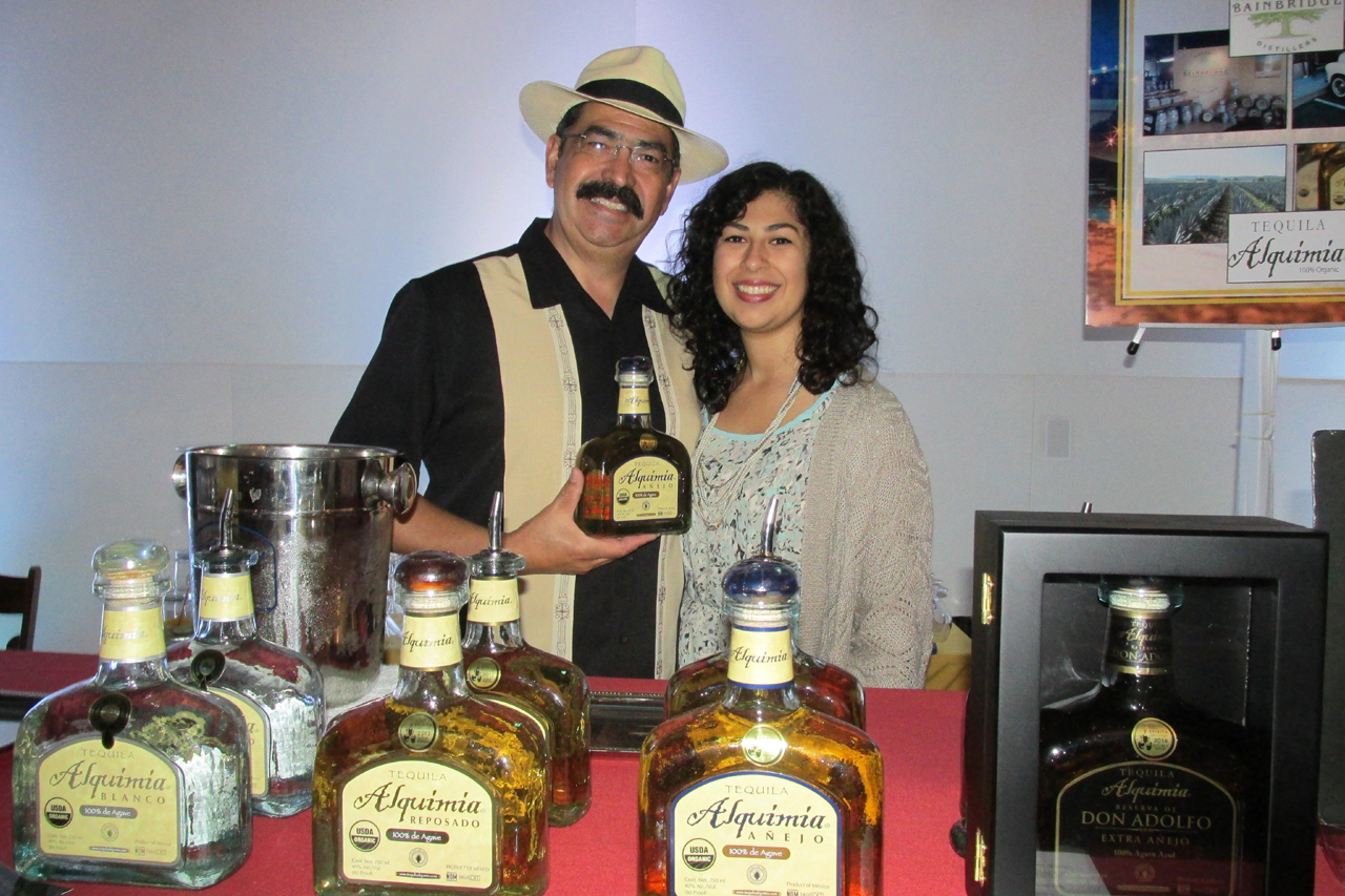 Dr. Adolpho Murillo with his daughter, Paloma, from Organic Bainbridge Distillers and Tequila Alquimia.