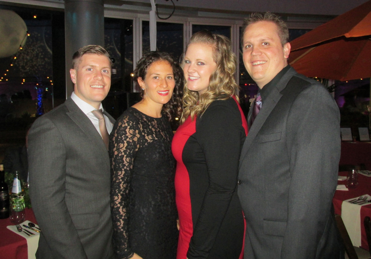 From left, Matthew and Nicole Morgan, Ashley Heidbrink and Chris Hardy.