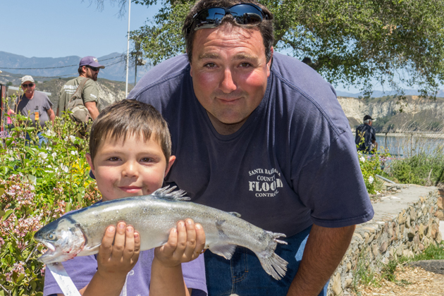 Captain s log with trout stocking program halted at lake for Cachuma lake fishing