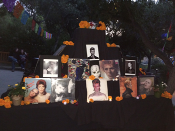 A Día de los Muertos altar at the Santa Barbara Bowl honors singer, songwriter and actor David Bowie, who died this year.