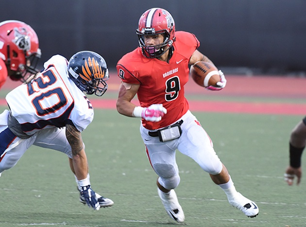 Cedric Cooper rushed for 165 yards and three touchdowns in SBCC's 51-13 win over L.A. Pierce.