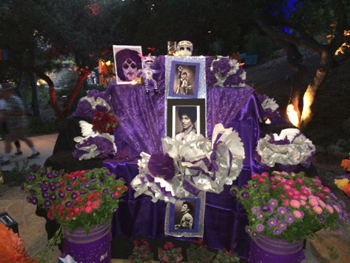 A Día de los Muertos altar at the Santa Barbara Bowl honors singer-songwriter Prince, who died this year.