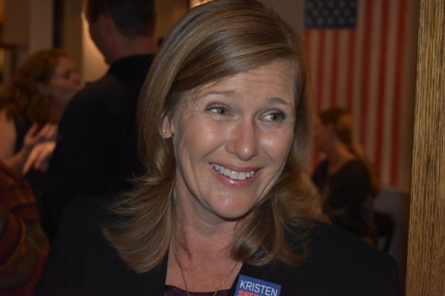 Kristen Sneddon was holding a sizeable lead in the District 4 Santa Barbara City Council race Tuesday night.