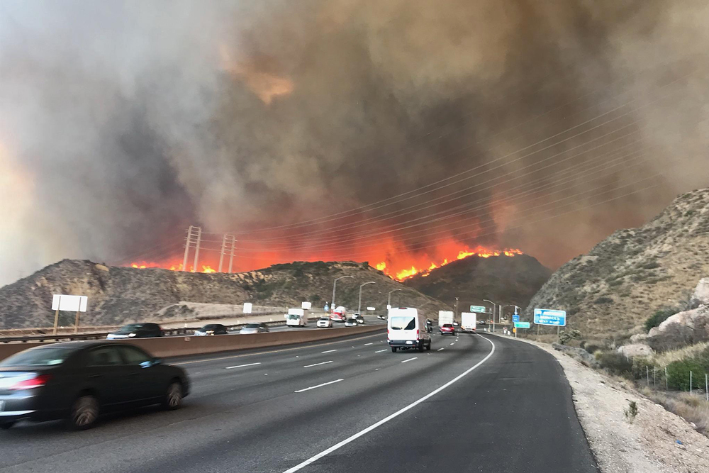 'God help us!' Pair of California wildfires, spurred by high win