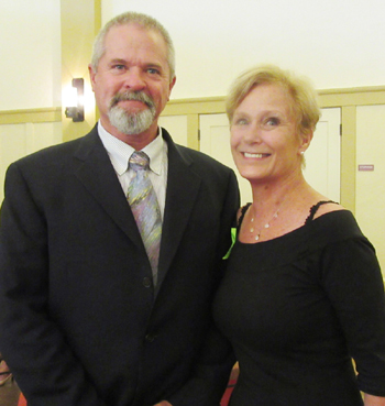 Luncheon speaker Tom Franklin with board member Ann Lippincott Ph.D.