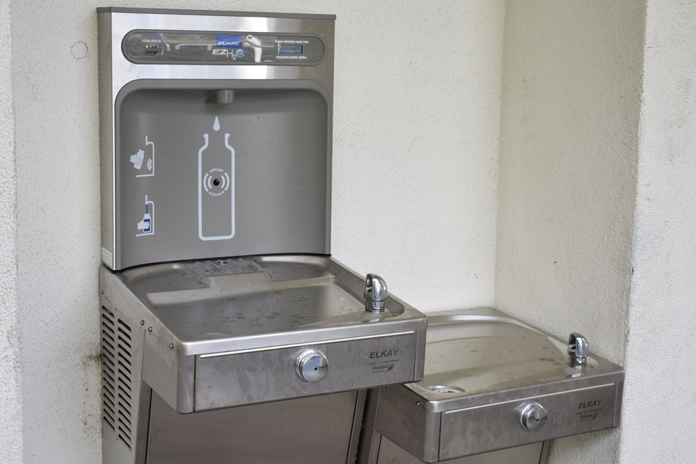 The Goleta Union School District will test drinking water at all nine of its campuses, and has begun installing filtered-water hydration stations, above, after lead was found in some drinking fountains. Voluntary water testing revealed Ellwood Elementary School had the most lead, with six contaminated drinking fountains.