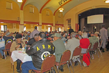 A large number of veterans turned out at the santa maria - App that puts santa in your living room ...