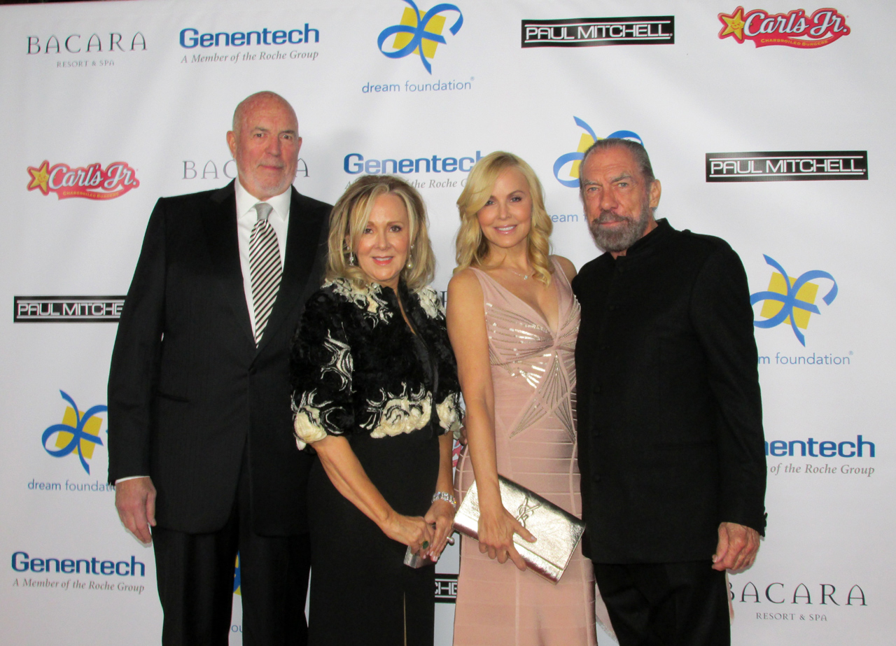Dream Makers Bill, left, and Sandi Nicholson with honoree John Paul DeJoria and actress Eloise DeJoria.