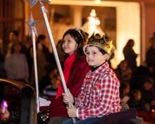 Kai Patterson and Alexandra Chadwick served as Holiday Prince & Fairy for the 2016 Downtown Santa Barbara Annual Holiday Parade Presented by Consumer Fire Products, Inc.