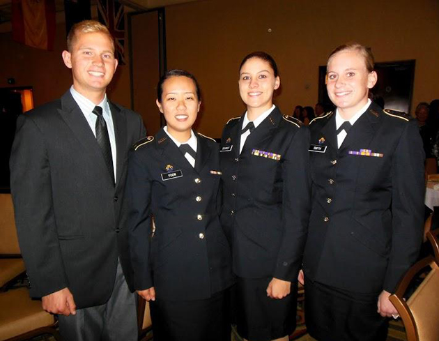 Young cadets Nik Frey, left, Esther Yoon, Brooke Smith and Alexandria Smidt.