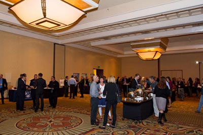 Guests mingle and network during the B2B event at Fess Parker's DoubleTree Resort. (Montecito Bank & Trust photo)