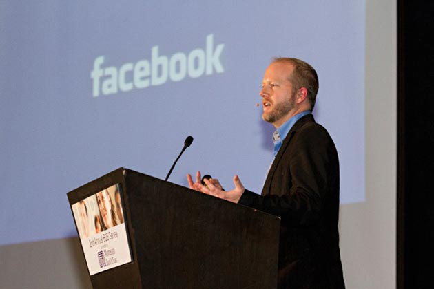 Guest speaker Matt Hicks, former Facebook communications manager and current adviser to R to Z Studios, presents Thinking Beyond Likes on Nov. 7 to conclude Montecito Bank & Trust's second annual B2B series. (Montecito Bank & Trust photo)