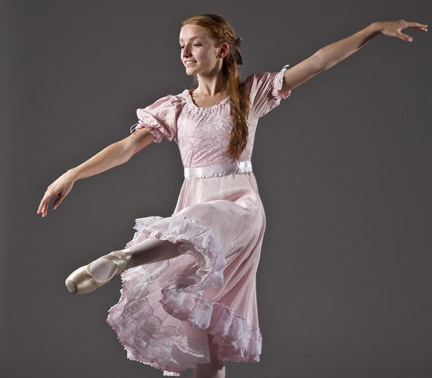 A student of Gustafson Dance will play the role of Clara in State Street Ballet's production of The Nutcracker, Dec. 22-23 at the Granada Theatre. (David Bazemore photo)