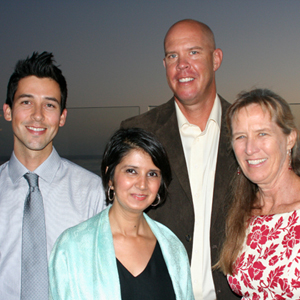 Patrick Krejdovsky, left, Mark Cohoon, Dr. Ann Sharma and Dr. Lyn Shoemaker. (Melissa Walker / Noozhawk photo)