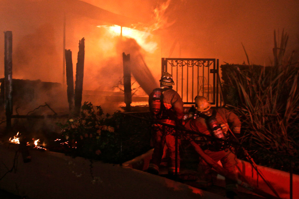 Fire caused major damage early Thursday to a home on Scenic Drive in Santa Barbara. No injuries were reported.