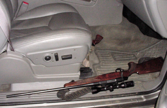 A loaded firearm in a car is illegal at all times when on or along a public roadway or other way open to the public.