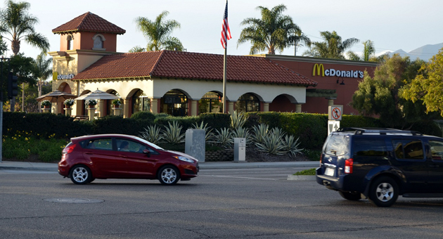 <p>A proposed drive-through for the McDonald&#8217;s restaurant in the Camino Real Marketplace has been the target of an appeal by the Goodland Coalition. The Goleta City Council upheld the appeal and denied the project Tuesday night in a close 3-2 vote.</p>