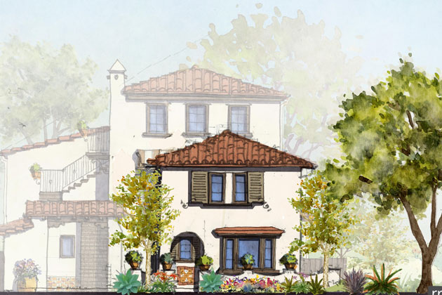 Two two-bedroom units and five three-bedroom units — averaging 944 square feet, will be built at 1818 Castillo Street in Santa Barbara under a plan upheld Tuesday by the City Council.