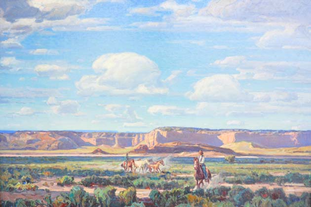 Works such as this from Carl Oscar Borg: Spirit of the West are available for viewing at the Santa Barbara Historical Museum.