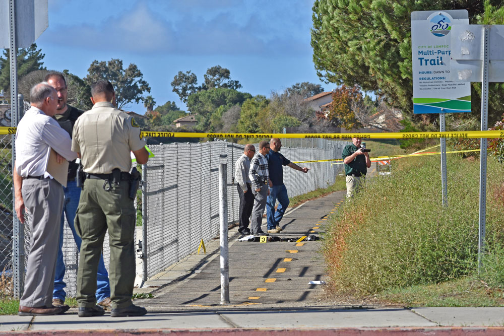 A man allegedly wielding a knife was shot and killed by Lompoc police on Nov. 21 near the 1000 block of North H Street. He was identified as 27-year-old Michael Giles.
