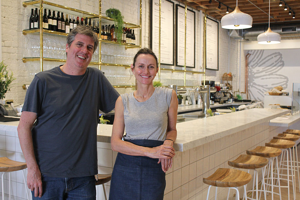 Dominic Shiach and Carmen Deforest inside The Daisy at 1221 State Street in downtown Santa Barbara.