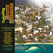 coloring book outlines santa barbara landmarks