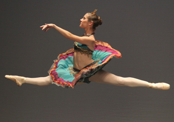 Dancer Chelsea Cambron goes airborne.