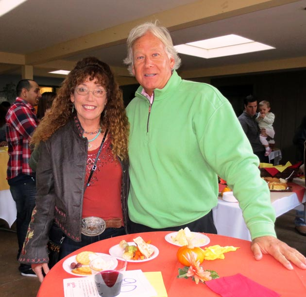 Patricia Alpert, development director for the Carpinteria Education Foundation, and Santa Barbara Bank & Trust community relations liaison Randy Weiss sample some of the offerings at the Taste for Carpinteria Chili Challenge, hosted by Girls Inc. of Carpinteria.