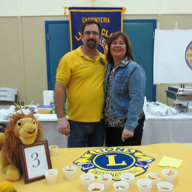 Carpinteria Lions booth with Mike Prather and supporter Sandi Prather.
