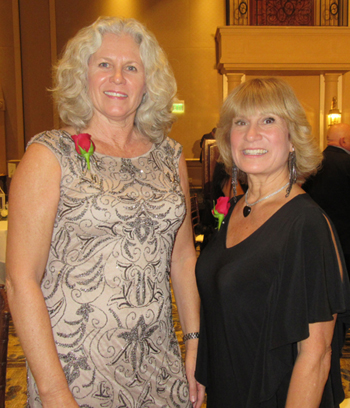 Honorees Kelly Onnen from Food from the Heart, Small Nonprofit of the Year, and Volunteer of the Year Terry McDuffie.