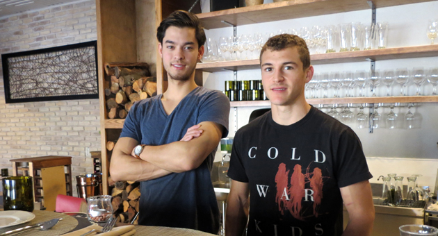 For restaurant owners Jesse Gaddy, left, and Julian Martinez, Barbareño is their life's work right now. (Gina Potthoff / Noozhawk photo)