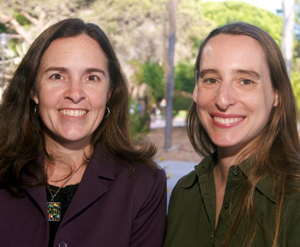 UCSB professors Danielle Harlow, left, and Diana Franklin. (Rod Rolle photo)